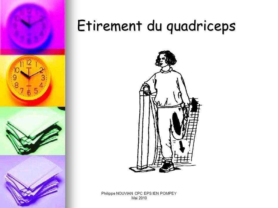Philippe NOUVIAN CPC EPS IEN POMPEY Mai 2010 Etirement du mollet
