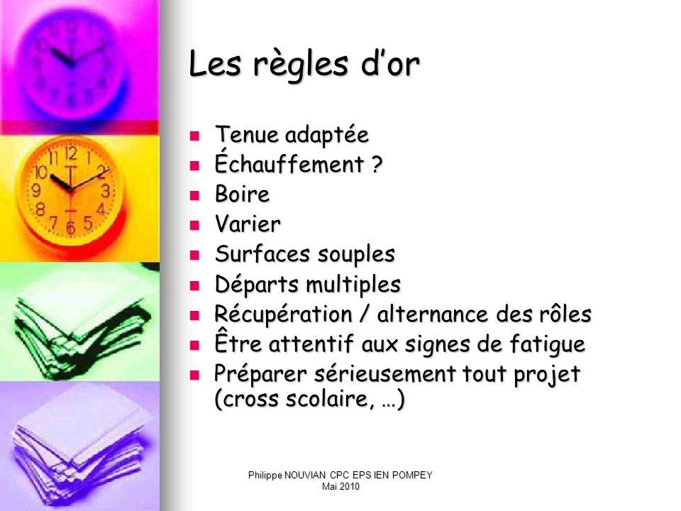 Philippe NOUVIAN CPC EPS IEN POMPEY Mai 2010 Les apprentissages visés Plan moteur Plan moteur Plan cognitif Plan cognitif Plan affectif Plan affectif