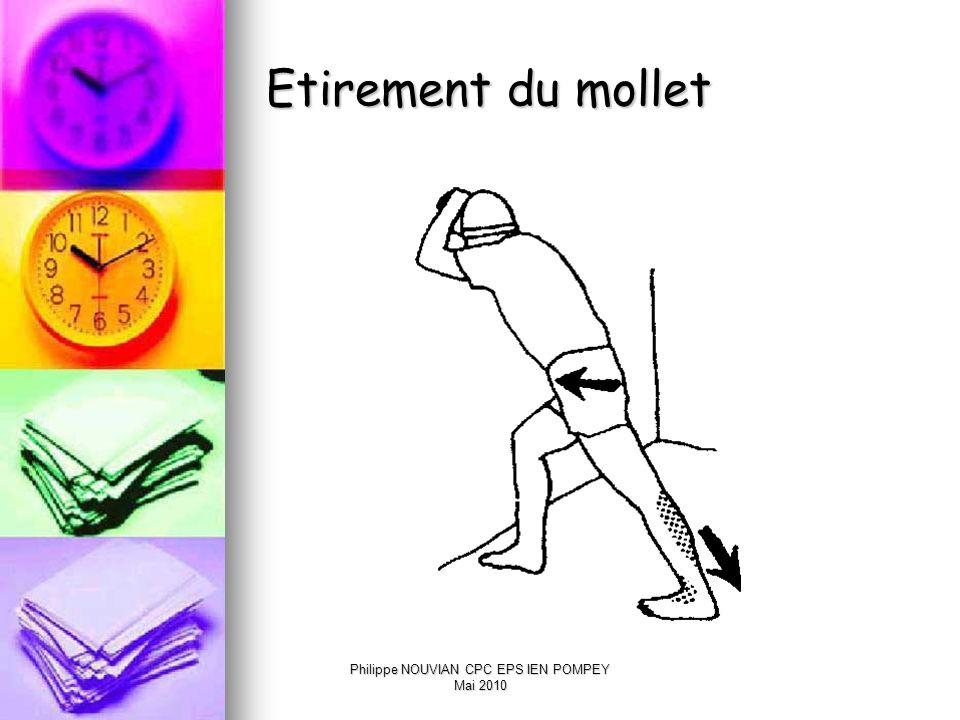 Philippe NOUVIAN CPC EPS IEN POMPEY Mai 2010 Course longue et prévention Un échauffement est nécessaire Un échauffement est nécessaire document 1 ; do