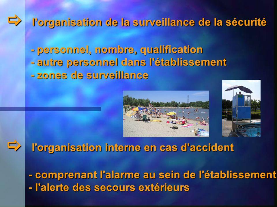l'organisation de la surveillance de la sécurité l'organisation de la surveillance de la sécurité - personnel, nombre, qualification - personnel, nomb
