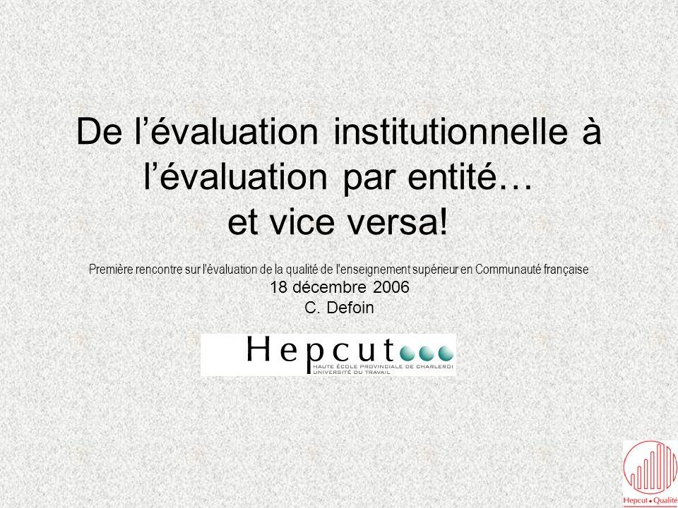 Décret créant l Agence pour l Evaluation de la Qualité de l Enseignement Supérieur organisé ou subventionné par la Communauté française D.