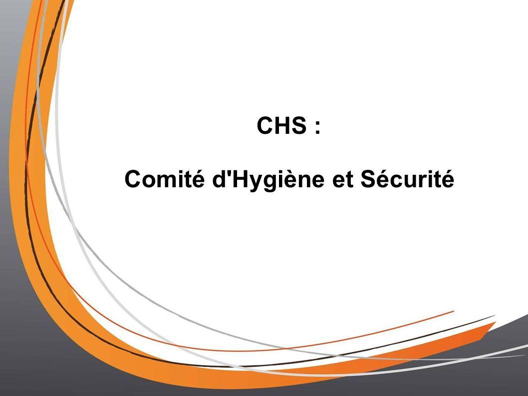 CHS : Comité d Hygiène et Sécurité