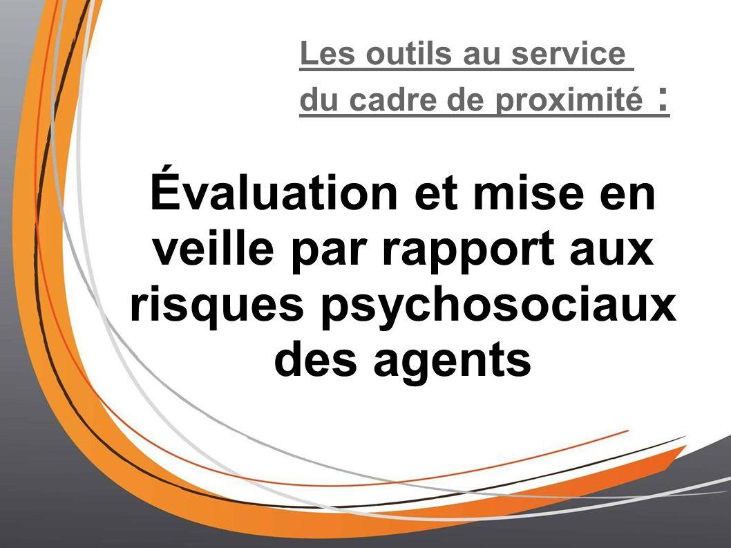 Les outils au service du cadre de proximité : Évaluation et mise en veille par rapport aux risques psychosociaux des agents