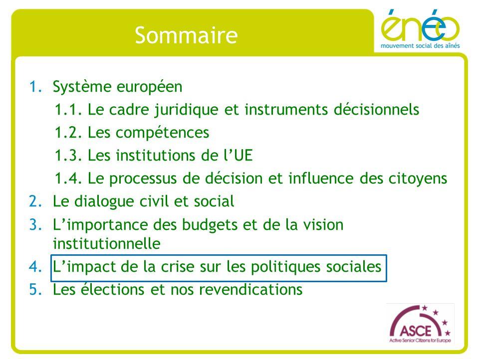Sommaire 1.Système européen 1.1. Le cadre juridique et instruments décisionnels 1.2.