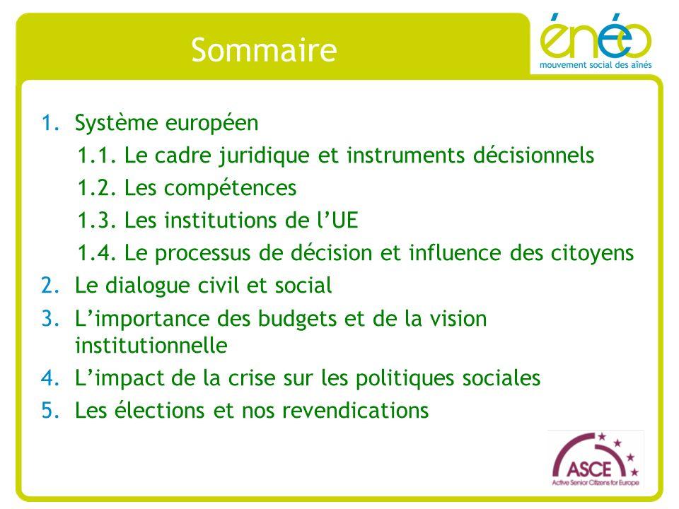 Importance des budgets et de la vision institutionnelle Semestre européen est : -un outil de gouvernance de la stratégie Europe 2020 -un « facilitateur » de la mise en place du Pacte de stabilité et de croissance (« Six-Pack » et « Two-Pack » : une série de règlements et directives) -un cycle annuel de coordination des politiques économiques et budgétaires : - Janvier : lexamen annuel de la croissance (AGS) - Printemps : Le conseil européen de printemps - Printemps : Les programmes de stabilité et de convergence, et les programmes nationaux de réforme (PNR) envoyés à la Commission en avril pour lévaluation - Été : Les recommandations par pays