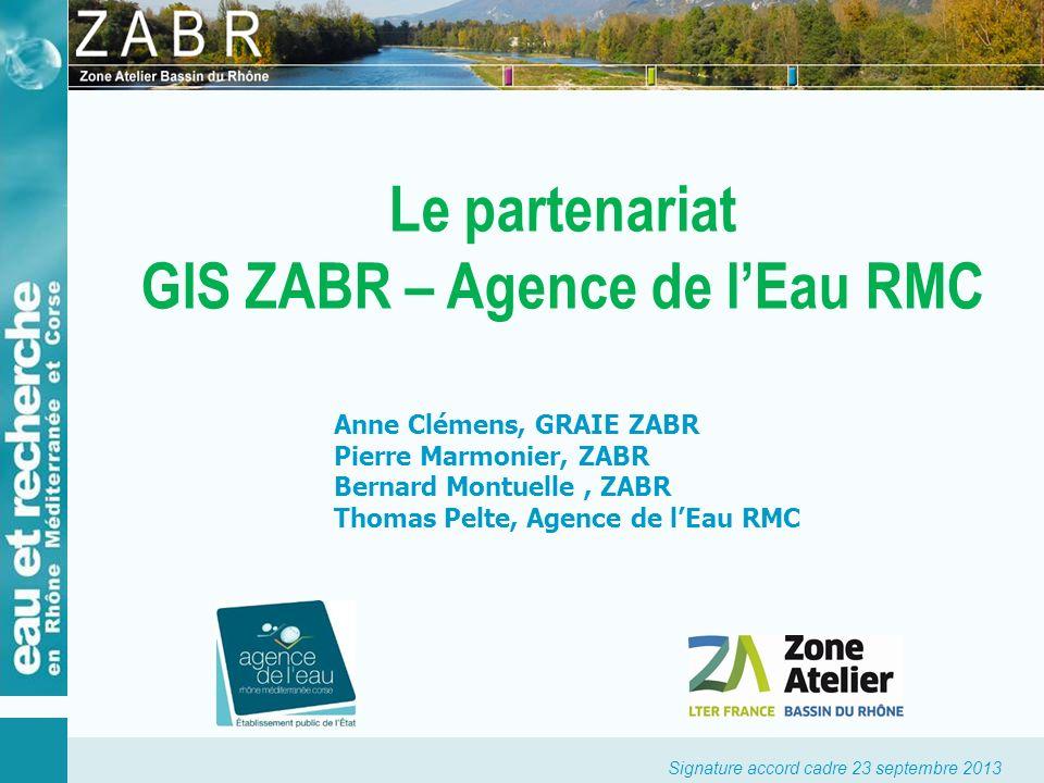 Signature accord cadre 23 septembre 2013 Lagence de leau RMC Les acteurs en présence Sa mission principale : contribuer à améliorer la gestion de leau, de lutter contre sa pollution et de protéger les milieux aquatiques.