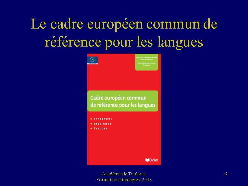 6 Le cadre européen commun de référence pour les langues