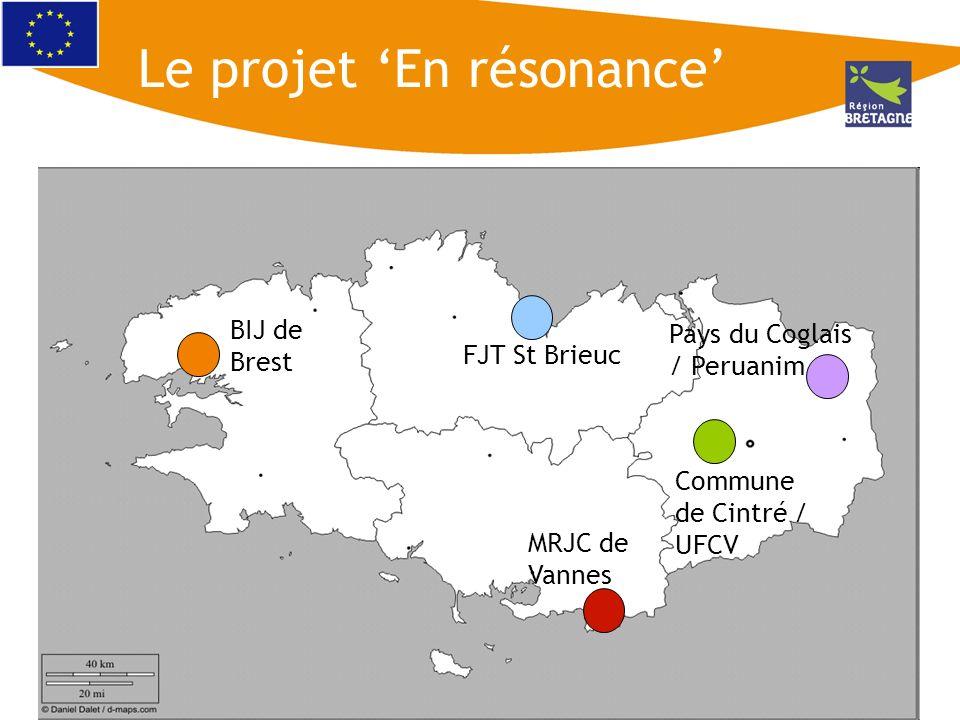 BIJ de Brest FJT St Brieuc Commune de Cintré / UFCV Pays du Coglais / Peruanim MRJC de Vannes Le projet En résonance