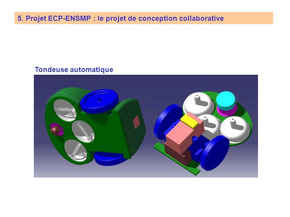 5. Projet ECP-ENSMP : le projet de conception collaborative Travail à réaliser Cahier des charges Notice de calcul Maquette Virtuelle (Catia) Rapport