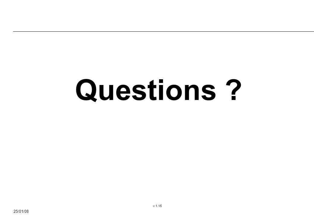 25/01/08 v 1.15 Questions ?