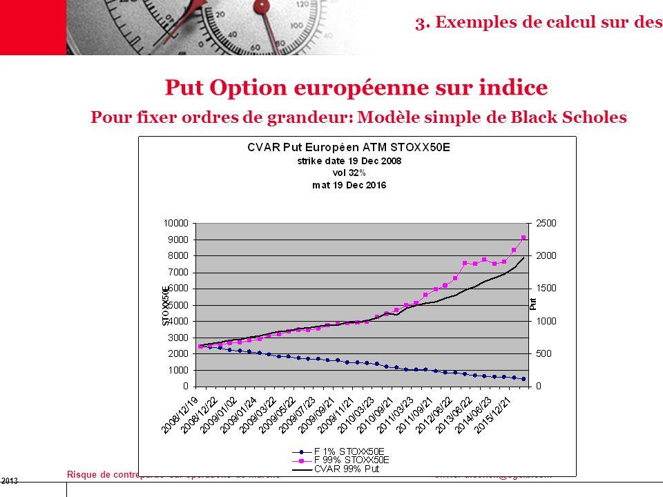 16 Jan 2013 Risque de contrepartie sur opérations de marchéolivier-d.cohen@sgcib.com 14 Put Option européenne sur indice Pour fixer ordres de grandeur