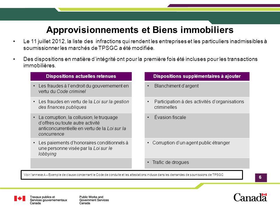 Application Processus de transition Les contrats existants sont honorés; Lors de la modification dun contrat, on demande aux fournisseurs de se conformer aux nouvelles dispositions, y compris les contrats dautorisation de tâche.