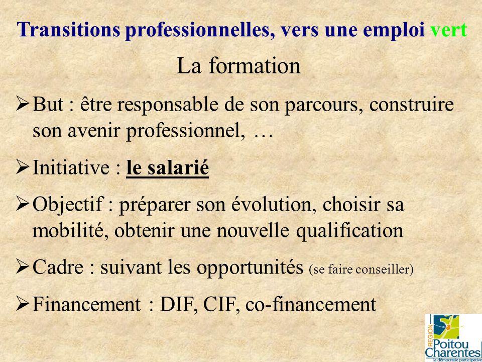 La formation But : être responsable de son parcours, construire son avenir professionnel, … Initiative : le salarié Objectif : préparer son évolution,