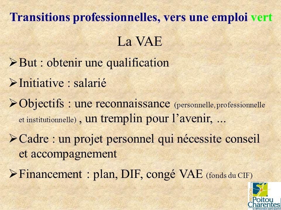 La VAE But : obtenir une qualification Initiative : salarié Objectifs : une reconnaissance (personnelle, professionnelle et institutionnelle), un trem