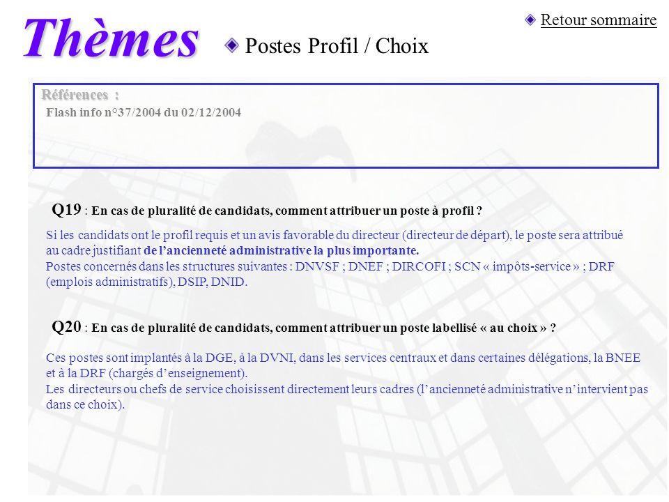 Thèmes Postes Profil / Choix Q19 : En cas de pluralité de candidats, comment attribuer un poste à profil ? Si les candidats ont le profil requis et un