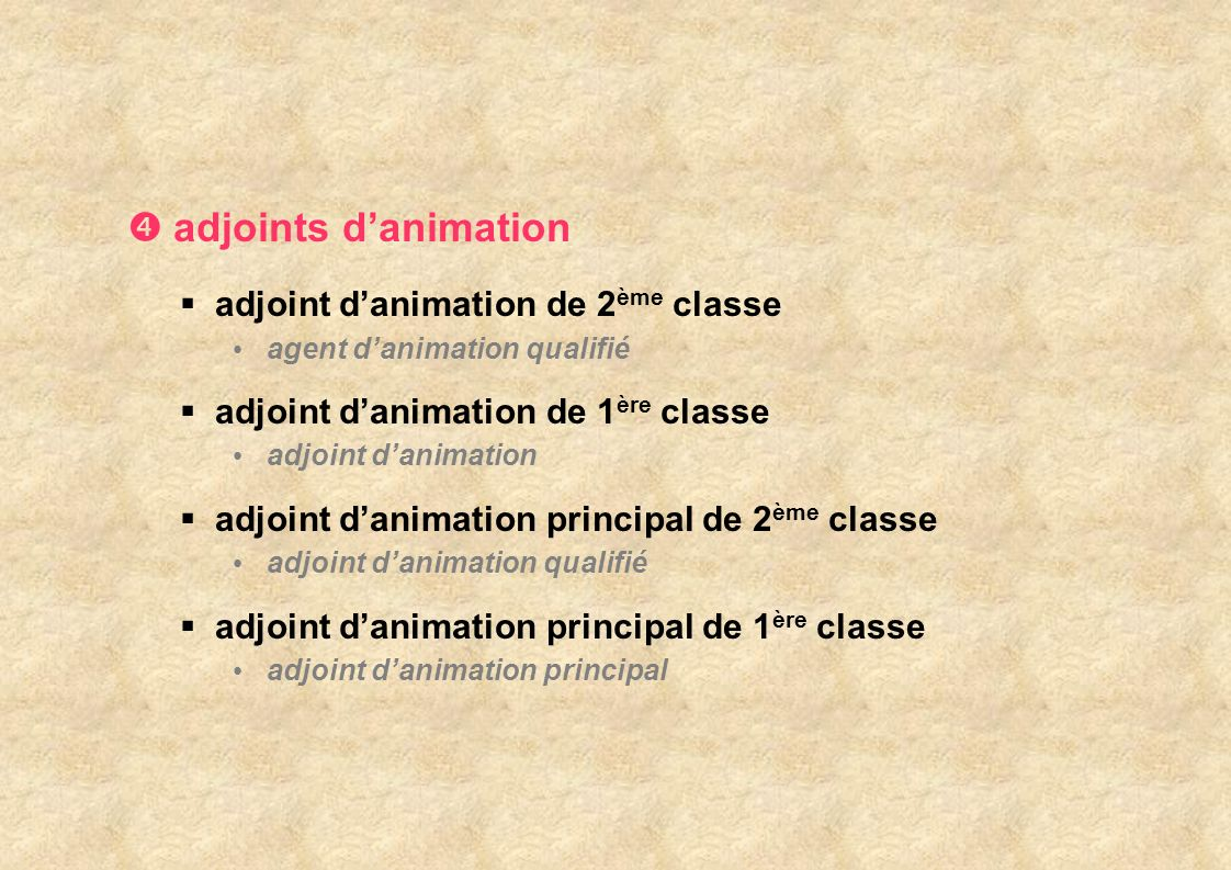 adjoints danimation adjoint danimation de 2 ème classe agent danimation qualifié adjoint danimation de 1 ère classe adjoint danimation adjoint danimat