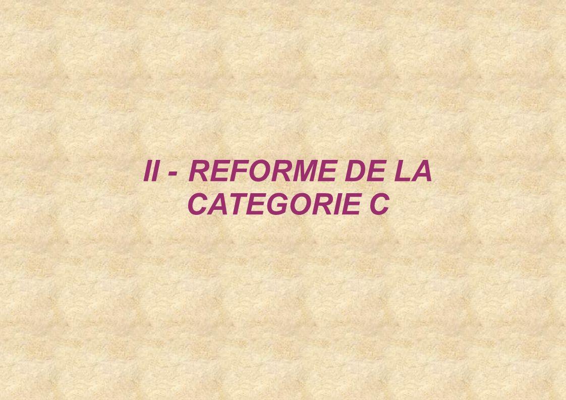 Restructuration de la catégorie C De nouveaux cadres d emplois Modification de cadres d emplois existants Un cadre demplois spécifique : les agents de police municipale