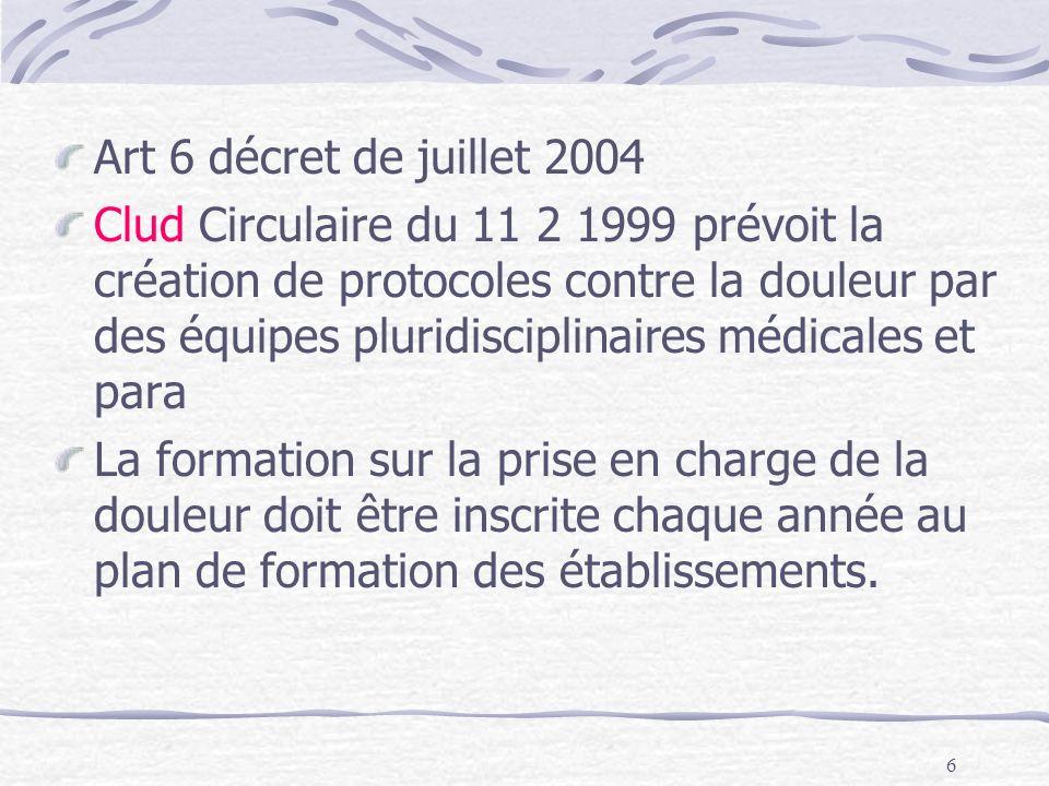27 Distribution dantalgiques sur Prescription médicale ou protocole écrit, daté et signé par le médecin.