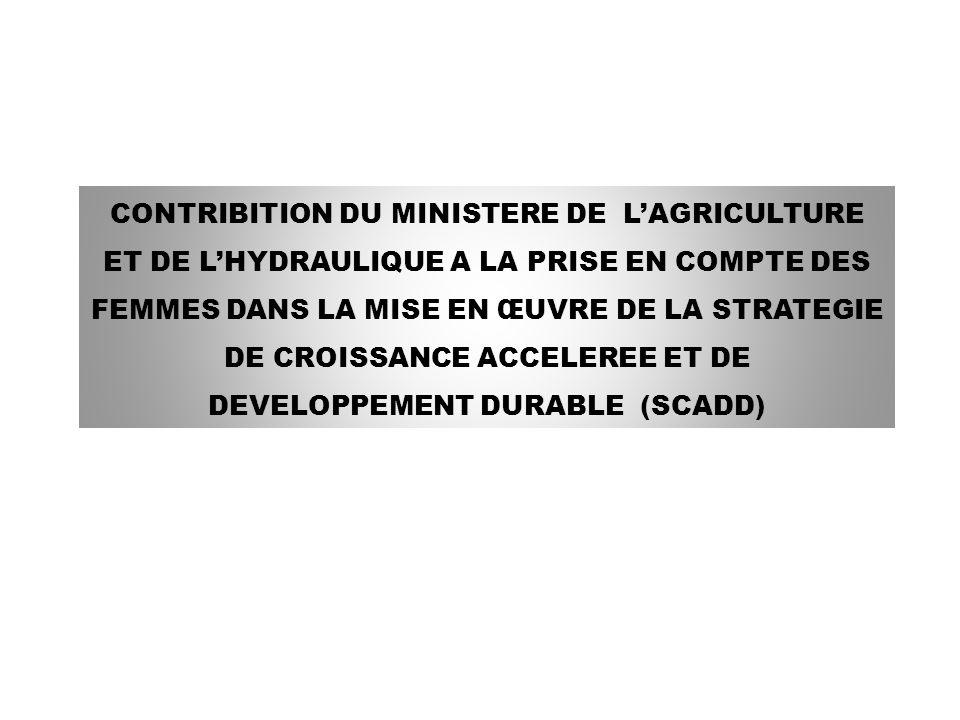 II..5 Le document guide de la révolution verte Dans le cadre de lopérationnalisation de la SDR et pour accélérer la modernisation de lagriculture, il a été élaboré en 2008 le document guide de la révolution verte dont la vision est formulée comme suit : « la croissance économique du Burkina Faso et la sécurité alimentaire sont assurées de façon soutenue et se basent sur des produits agricoles et agro-industriels compétitifs, intégrés au marché, résultant dune amélioration durable de la productivité agro-sylvo-pastorale ».
