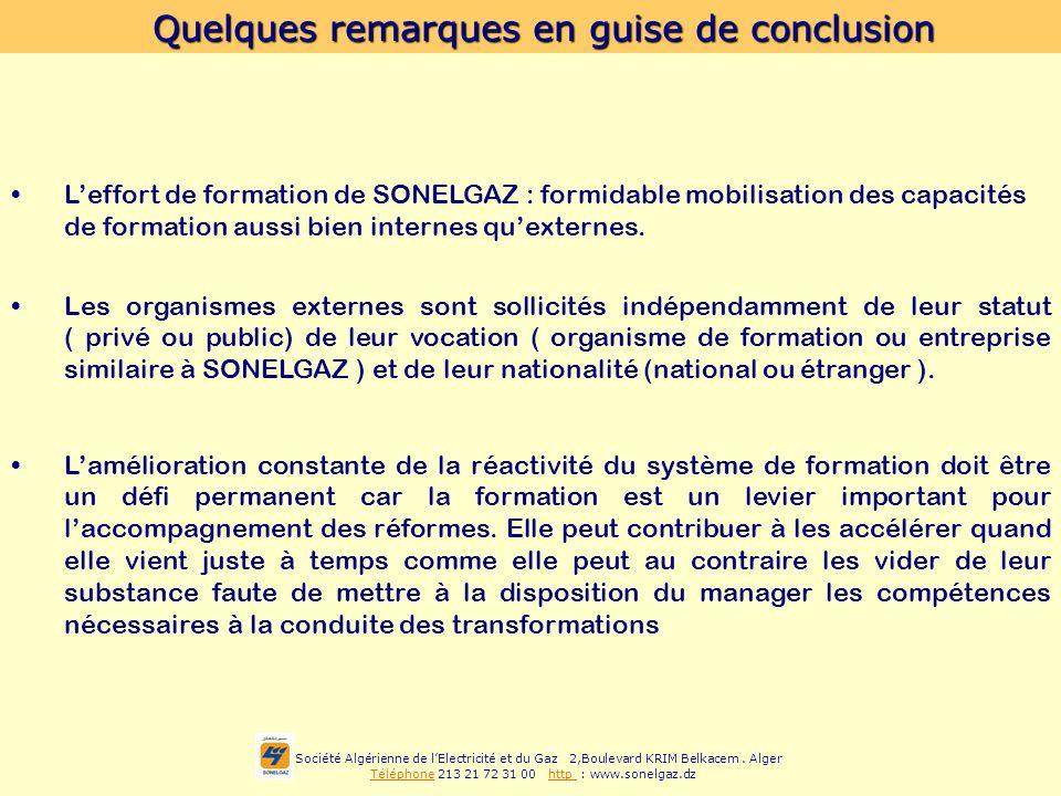 Société Algérienne de lElectricité et du Gaz 2,Boulevard KRIM Belkacem. Alger Téléphone 213 21 72 31 00 http : www.sonelgaz.dz Quelques remarques en g
