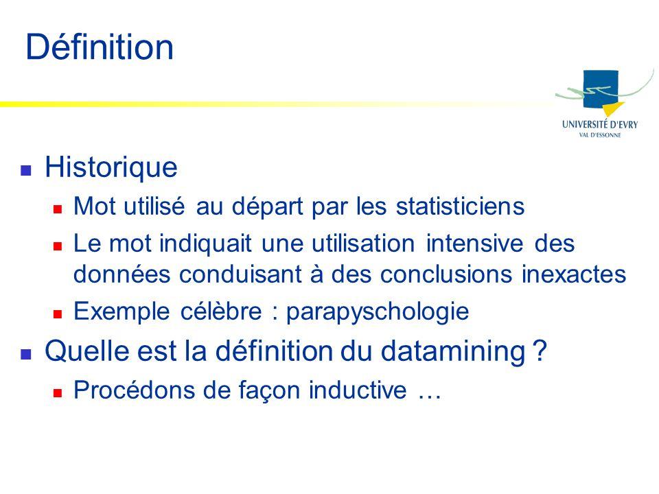 Historique Mot utilisé au départ par les statisticiens Le mot indiquait une utilisation intensive des données conduisant à des conclusions inexactes E