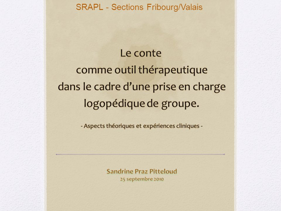 SRAPL - Sections Fribourg/Valais