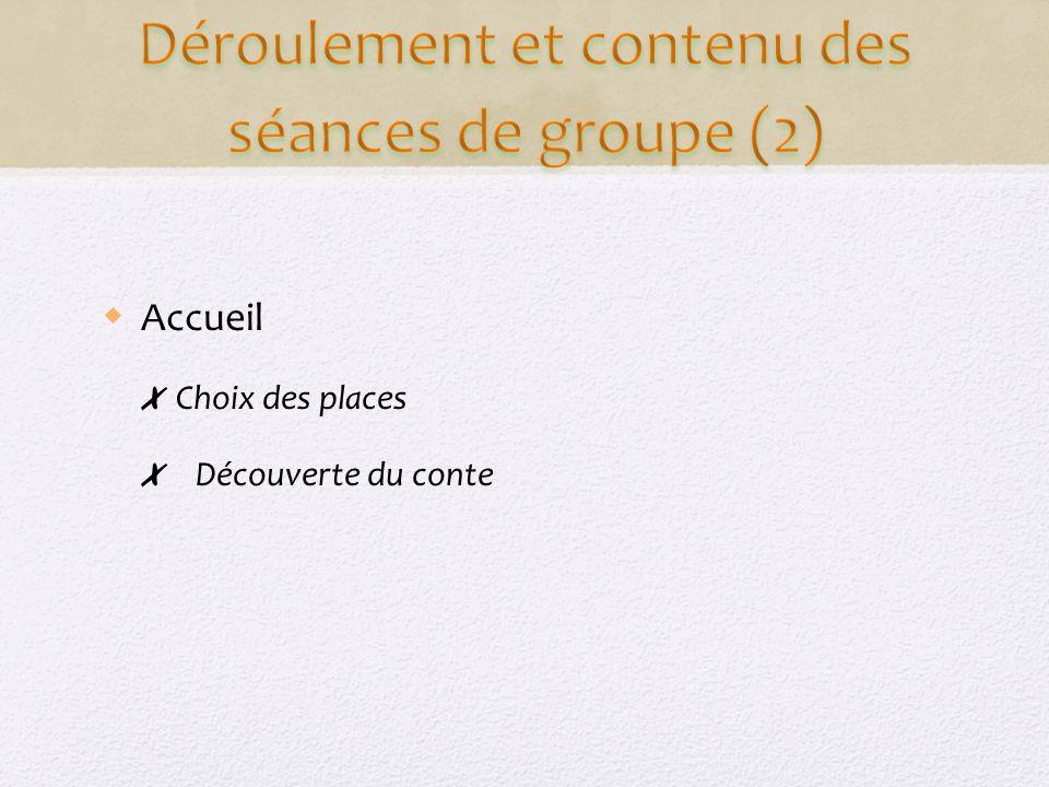 Accueil Choix des places Découverte du conte