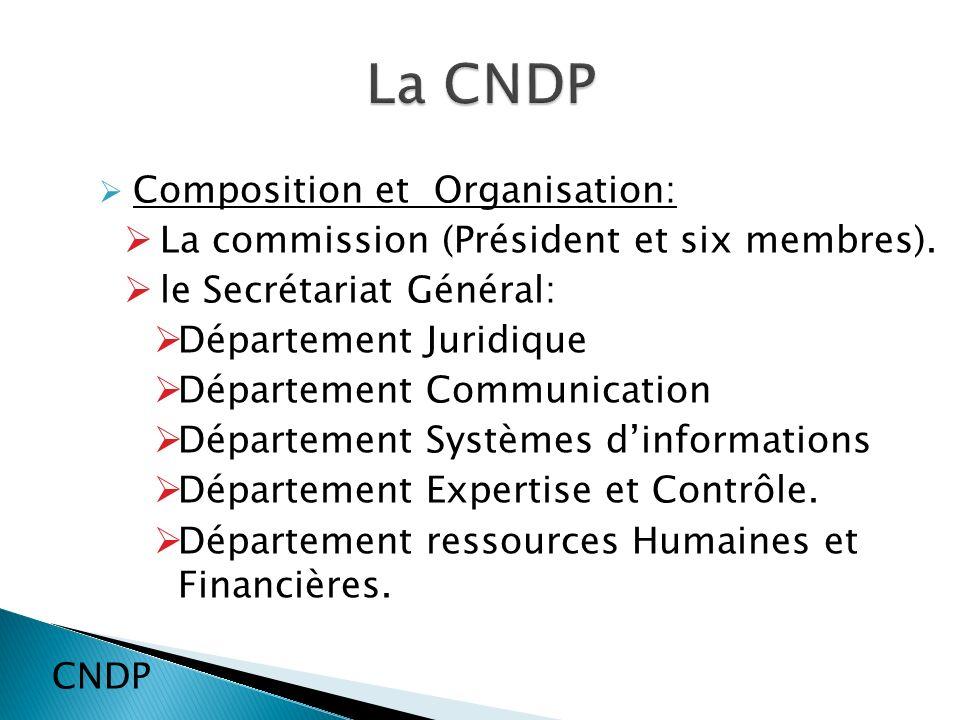 Composition et Organisation: La commission (Président et six membres).