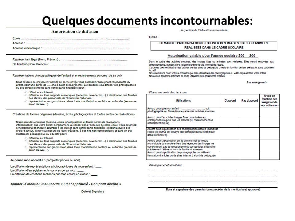 Quelques documents incontournables:
