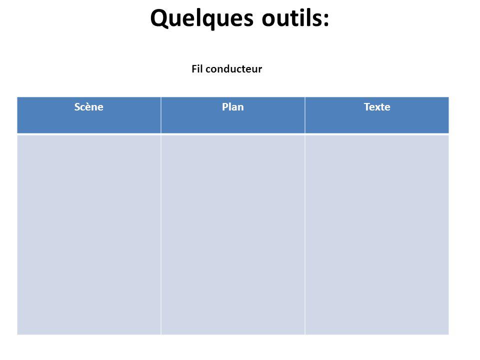 Quelques outils: ScènePlanTexte Fil conducteur