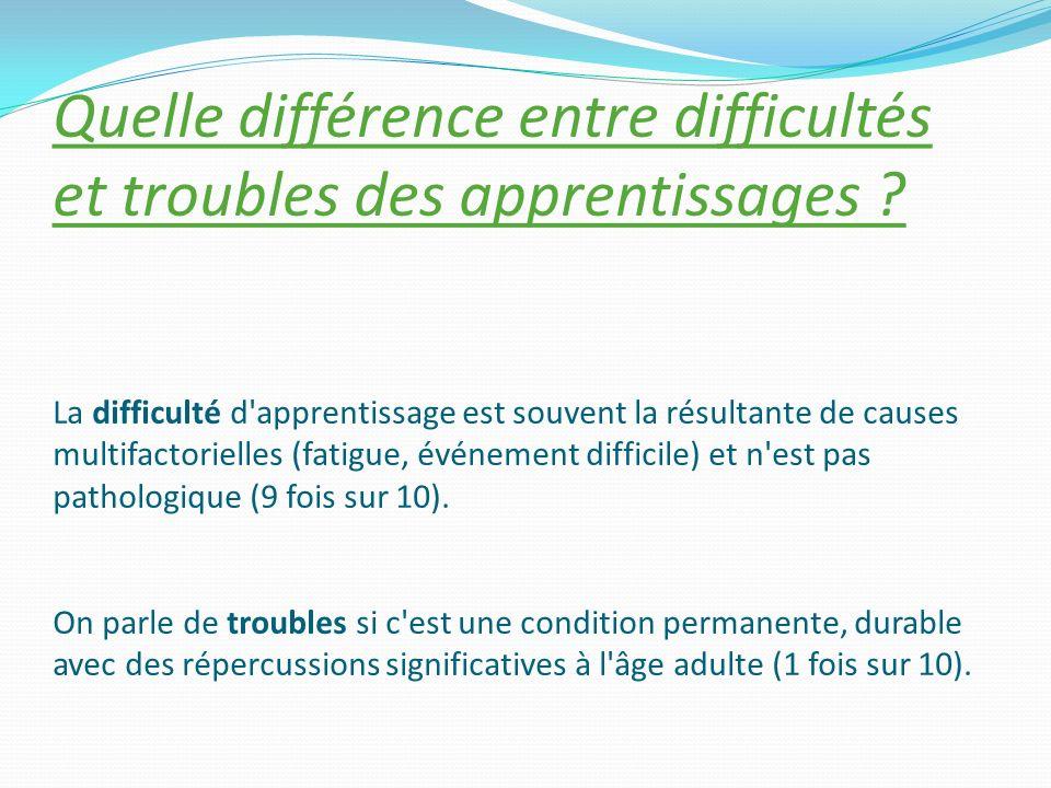 Troubles développementaux spécifiques = « dys » + attention + mémoire + reconnaissance + fonctions exécutives