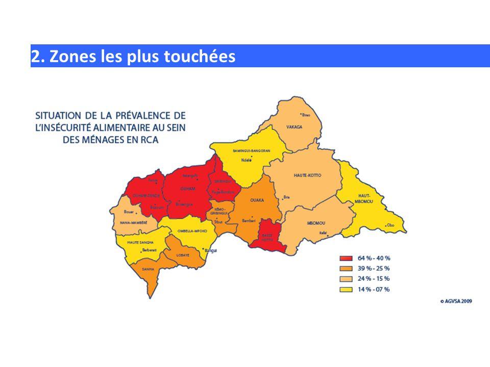 2. Zones les plus touchées