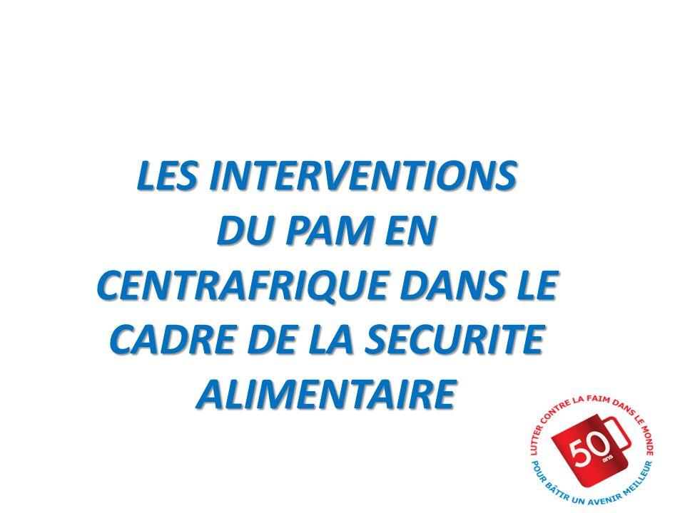 LES INTERVENTIONS DU PAM EN CENTRAFRIQUE DANS LE CADRE DE LA SECURITE ALIMENTAIRE