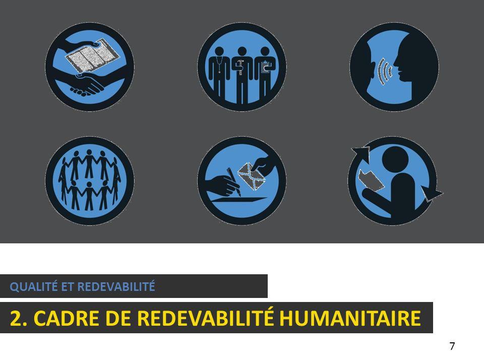 7 QUALITÉ ET REDEVABILITÉ 2. CADRE DE REDEVABILITÉ HUMANITAIRE