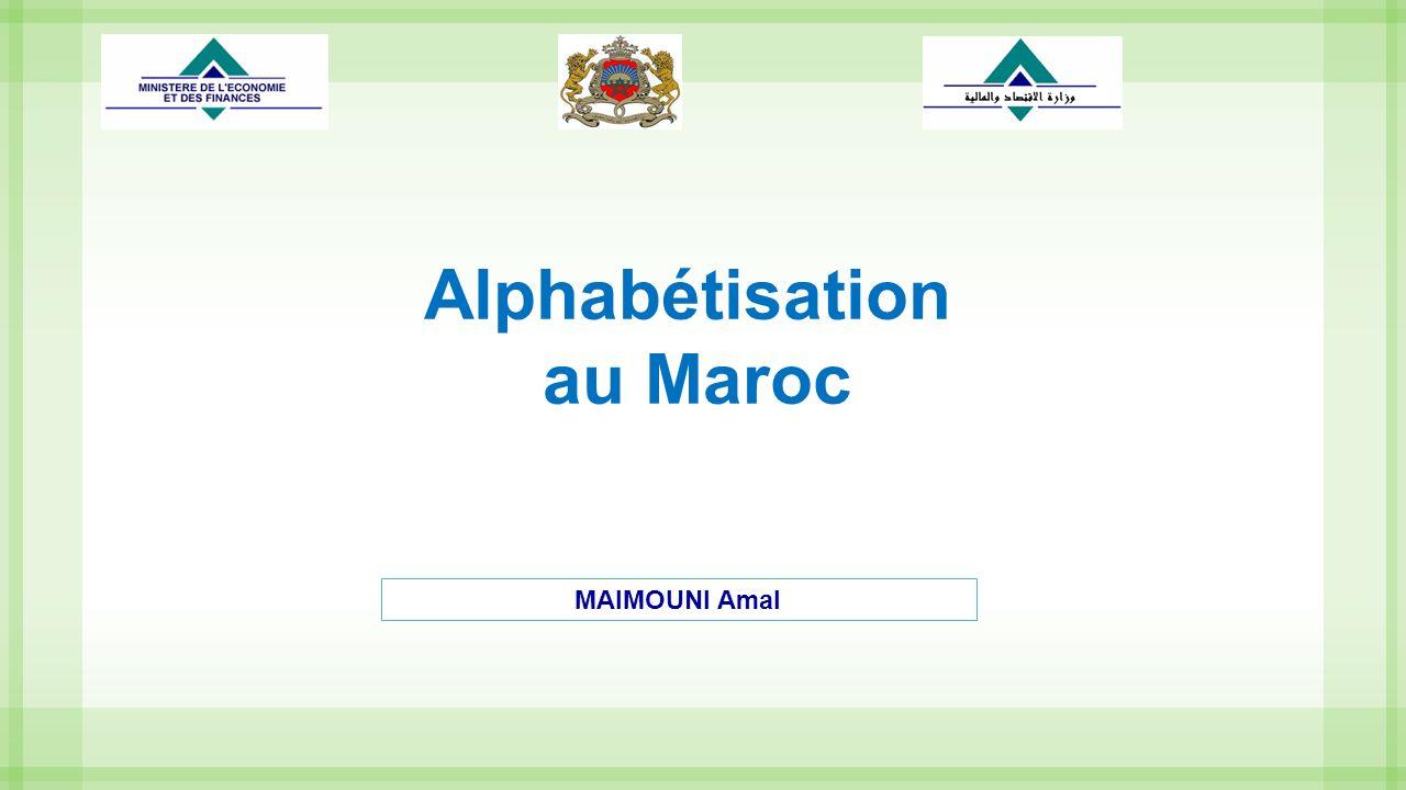12 Au Maroc, grâce aux efforts déployés par les différents intervenants dans ce domaine, le taux danalphabétisme de la population âgée de plus de 10 ans a été ramené de 43% en 2004 selon le Recensement Général de la Population et de lHabitat à 28% selon les résultats de lenquête nationale sur lanalphabétisme de 2012.