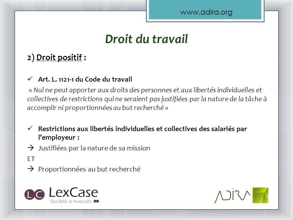 www.adira.org 2) Droit positif : Art.L.