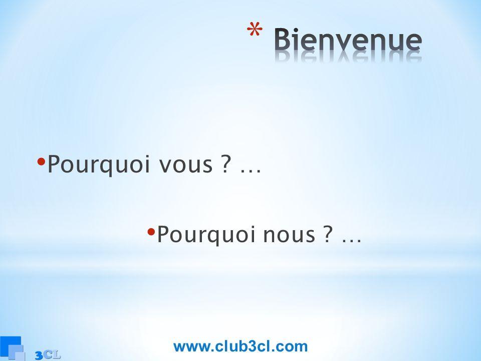Pourquoi vous ? … Pourquoi nous ? … www.club3cl.com