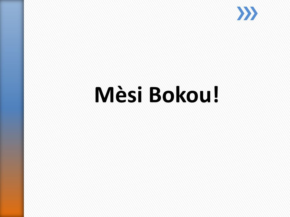 Mèsi Bokou!