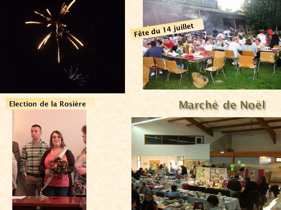 Marché de Noël Election de la Rosière Fête du 14 juillet