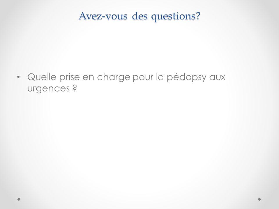 Avez-vous des questions? Quelle prise en charge pour la pédopsy aux urgences ?