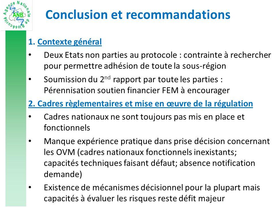 Conclusion et recommandations 1.