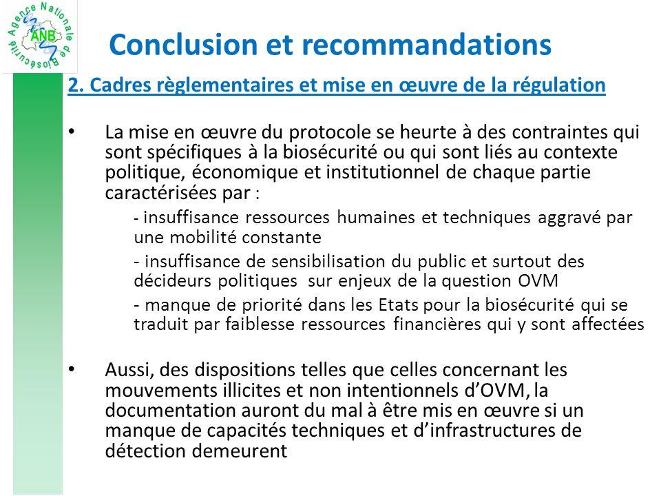 Conclusion et recommandations 2.
