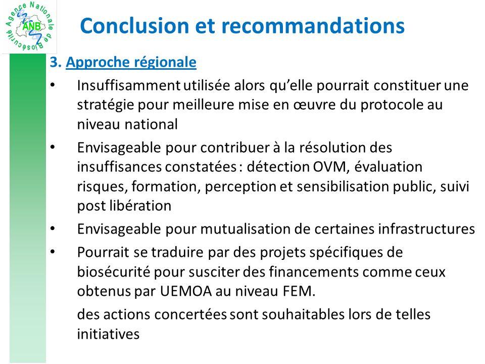 Conclusion et recommandations 3.