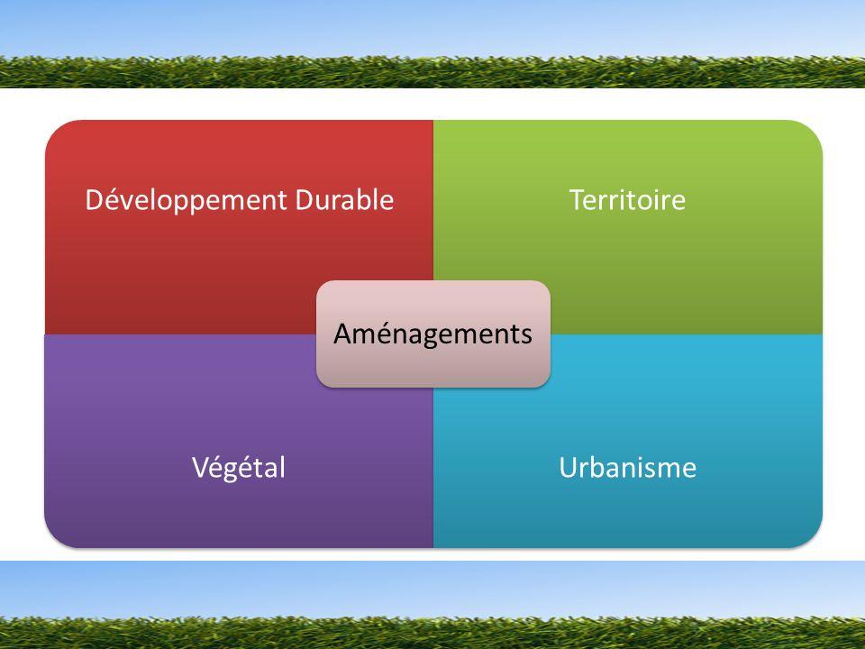 Développement DurableTerritoire VégétalUrbanisme Aménagements
