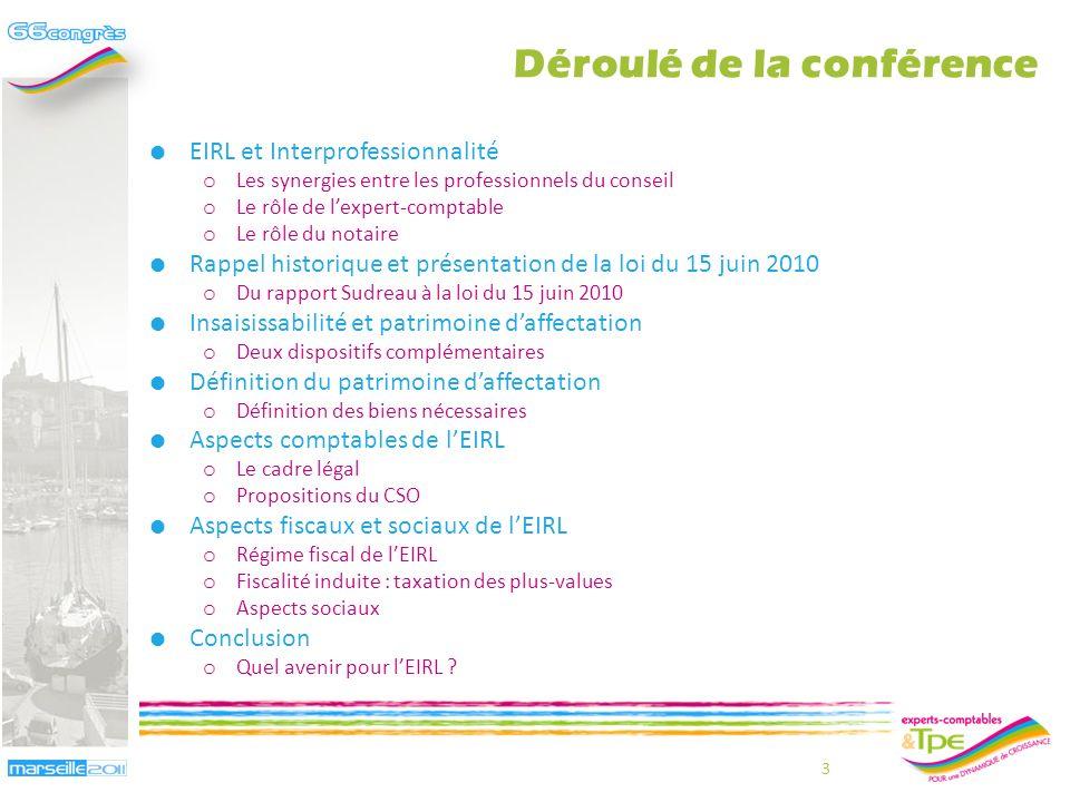 Aspects fiscaux de lEIRL Olivier Salamito – Jean-Bernard Cappelier 33