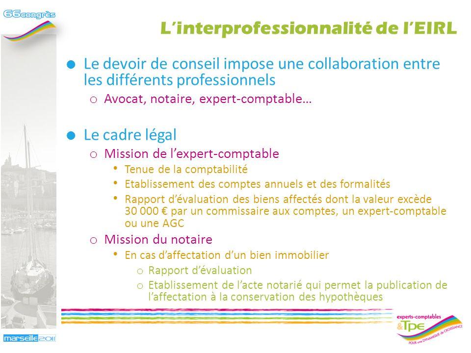 EIRL et interprofessionnalité Jean-Bernard Cappelier – Frédéric Roussel 4