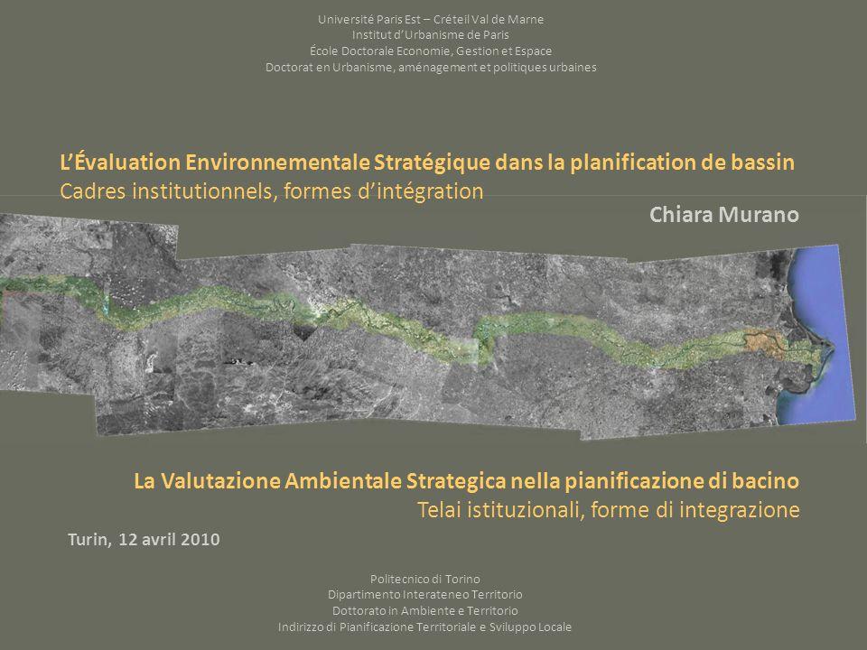 OCDE (2006), nécessité dexplorer la relation que lEES établit entre lexigence dintégrer environnement et développement par rapport au contexte institutionnel dans lequel lintégration se réalise.