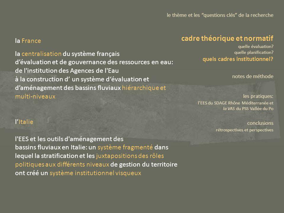 la France la centralisation du système français dévaluation et de gouvernance des ressources en eau: de l'institution des Agences de l'Eau à la constr