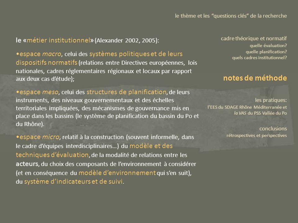 le «métier institutionnel» (Alexander 2002, 2005): espace macro, celui des systèmes politiques et de leurs dispositifs normatifs (relations entre Dire