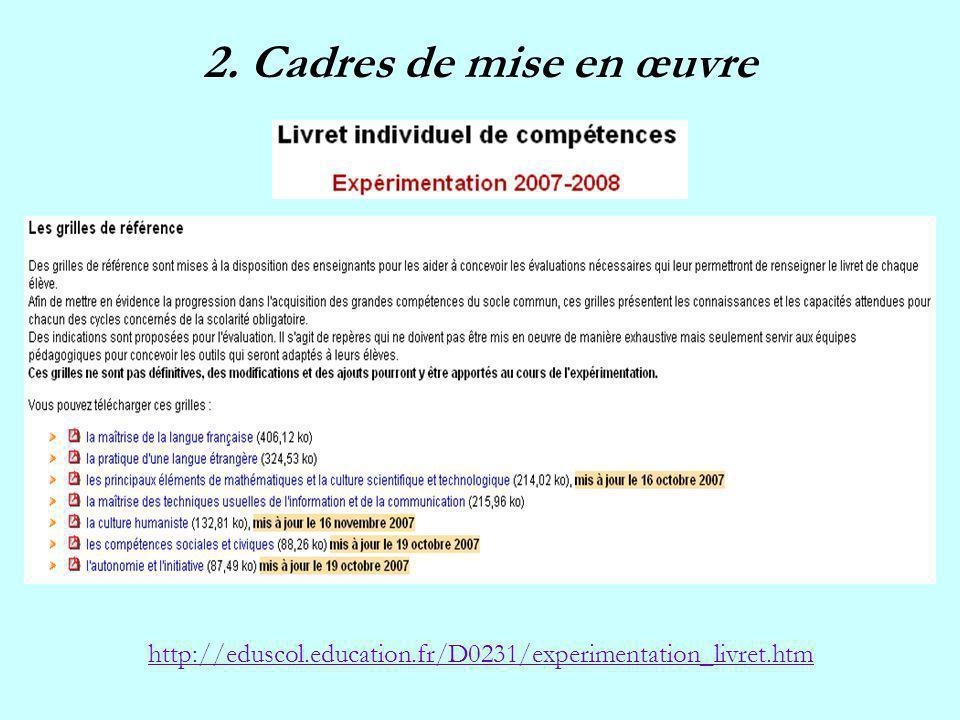 http://eduscol.education.fr/D0231/experimentation_livret.htm
